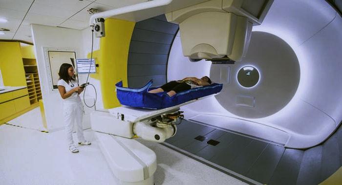 пациент на протонно-лучевой терапии при раке легких
